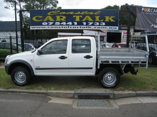 2006 Holden Rodeo RA MY06 Upgrade LX (4x4) White 5 Speed Manual Crew Cab Chassis.