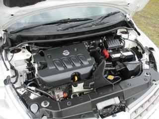 2012 Nissan Tiida C11 S3 ST White 4 Speed Automatic Sedan