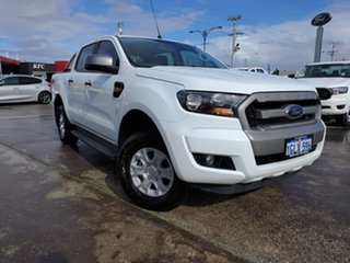 2018 Ford Ranger PX MkII 2018.00MY XLS Double Cab Frozen White 6 Speed Manual Utility.
