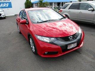 2013 Honda Civic VTi-L Red 4 Speed Automatic Hatchback.