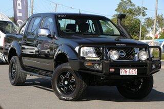 2011 Nissan Navara D40 MY11 ST-X Midnight Black 6 Speed Manual Utility.