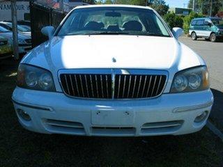 2002 Hyundai Grandeur FINANCE $46 Per Week White 4 Speed Automatic Sedan.