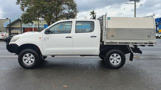 2012 Toyota Hilux KUN26R MY12 SR Double Cab White 5 Speed Manual Utility.