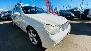 2004 Mercedes-Benz C-Class S203 MY2003 C200 Kompressor Classic White 5 Speed Sports Automatic Wagon.
