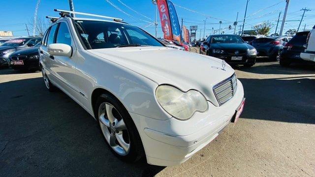 Used Mercedes-Benz C-Class S203 MY2003 C200 Kompressor Classic Maidstone, 2004 Mercedes-Benz C-Class S203 MY2003 C200 Kompressor Classic White 5 Speed Sports Automatic Wagon