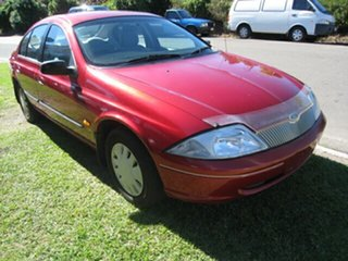1999 Ford Falcon AU Finance $46 Per Week Red 4 Speed Automatic Sedan.