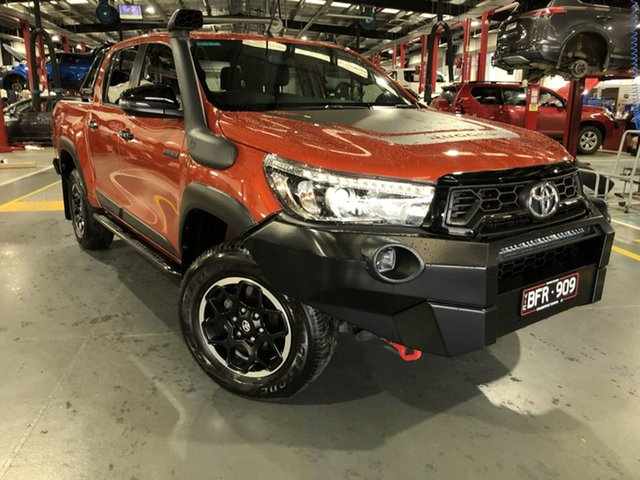Pre-Owned Toyota Hilux GUN126R Rugged X Double Cab Oakleigh, 2019 Toyota Hilux GUN126R Rugged X Double Cab Inferno 6 Speed Sports Automatic Utility
