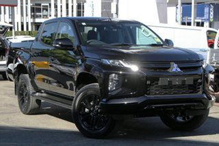 2021 Mitsubishi Triton MR MY21 GSR Double Cab Pitch Black 6 Speed Sports Automatic Utility.