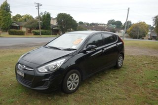 2016 Hyundai Accent RB4 MY16 Active Black 6 Speed Manual Hatchback.