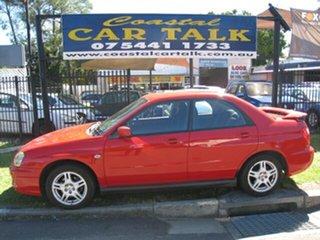 2003 Subaru Impreza MY03 RS (AWD) Red 4 Speed Automatic Sedan.