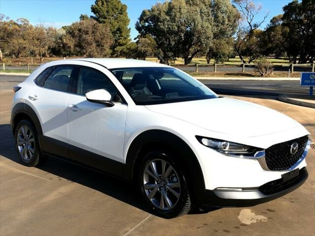 New Mazda CX-30 DM2WLA G25 SKYACTIV-Drive Touring Berri, 2021 Mazda CX-30 DM2WLA G25 SKYACTIV-Drive Touring Snowflake White Pearl 6 Speed Sports Automatic