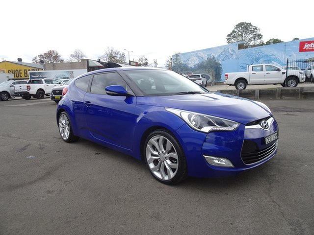Used Hyundai Veloster FS Coupe D-CT Nowra, 2011 Hyundai Veloster FS Coupe D-CT Blue 6 Speed Automatic Hatchback