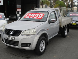 2011 Great Wall V240 K2 (4x4) Silver 5 Speed Manual Cab Chassis.