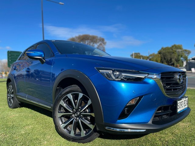 Used Mazda CX-3 DK2W7A sTouring SKYACTIV-Drive Hindmarsh, 2018 Mazda CX-3 DK2W7A sTouring SKYACTIV-Drive Dynamic Blue 6 Speed Sports Automatic Wagon