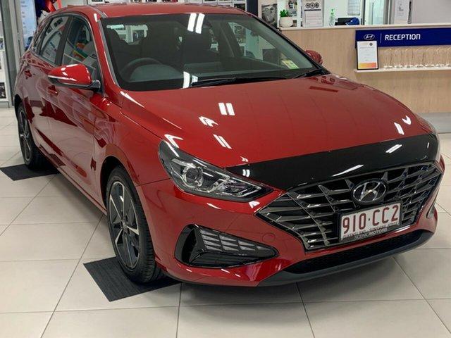 Demo Hyundai i30 PD.V4 MY21 Elite Beaudesert, 2020 Hyundai i30 PD.V4 MY21 Elite Fiery Red 6 Speed Sports Automatic Hatchback
