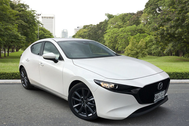 Demo Mazda 3 BP2H7A G20 SKYACTIV-Drive Evolve Paradise, 2021 Mazda 3 BP2H7A G20 SKYACTIV-Drive Evolve White Pearl 6 Speed Sports Automatic Hatchback