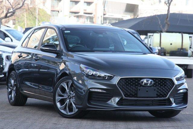 New Hyundai i30 PD.V4 MY21 N Line D-CT Premium Geelong, 2021 Hyundai i30 PD.V4 MY21 N Line D-CT Premium Iron Grey 7 Speed Automatic Hatchback