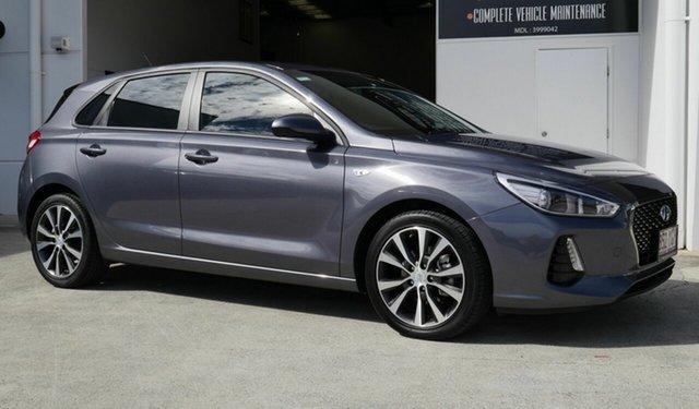 Used Hyundai i30 PD2 MY18 Trophy Capalaba, 2018 Hyundai i30 PD2 MY18 Trophy Grey 6 Speed Sports Automatic Hatchback