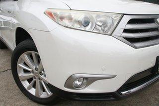 2012 Toyota Kluger GSU45R MY11 Upgrade Grande (4x4) Crystal Pearl 5 Speed Automatic Wagon.