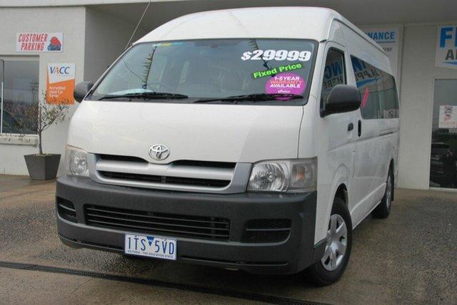 Used Toyota HiAce TRH223R Commuter Wendouree, 2005 Toyota HiAce TRH223R Commuter White 4 Speed Automatic Bus