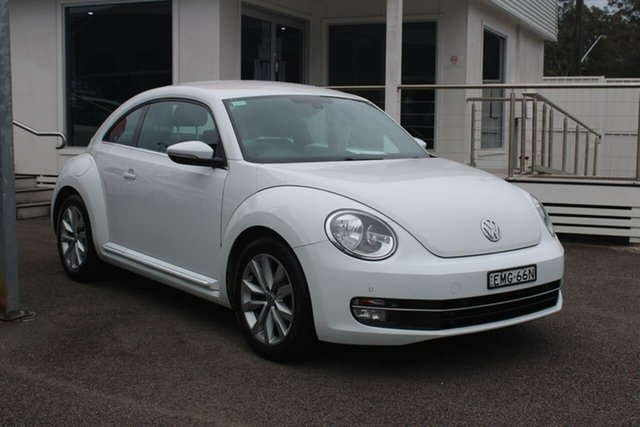 Used Volkswagen Beetle 1L MY15 Coupe DSG North Gosford, 2015 Volkswagen Beetle 1L MY15 Coupe DSG White 7 Speed Sports Automatic Dual Clutch Liftback