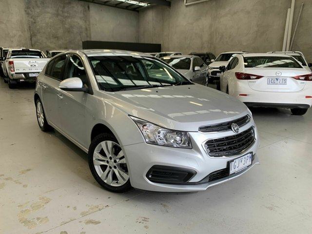 Used Holden Cruze JH Series II MY16 Equipe Coburg North, 2015 Holden Cruze JH Series II MY16 Equipe Silver 6 Speed Sports Automatic Hatchback