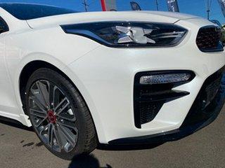 2021 Kia Cerato BD MY21 GT DCT Snow White Pearl 7 Speed Sports Automatic Dual Clutch Sedan.