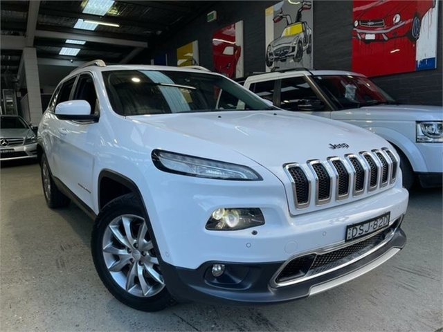 Used Jeep Cherokee KL Limited Glebe, 2017 Jeep Cherokee KL Limited White Sports Automatic Wagon