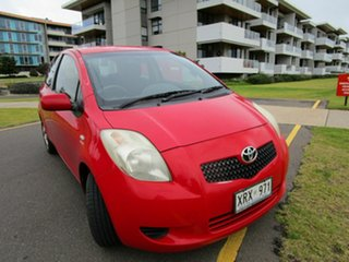 2008 Toyota Yaris NCP90R 08 Upgrade YR Red 5 Speed Manual Hatchback.