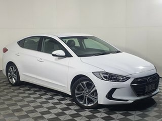 2018 Hyundai Elantra AD MY18 Elite White 6 Speed Sports Automatic Sedan.