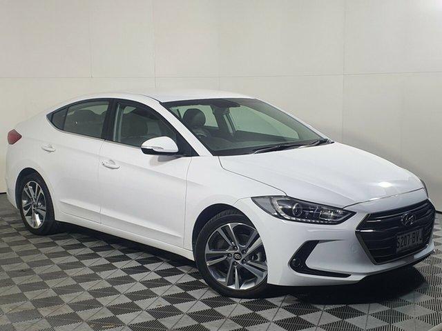 Used Hyundai Elantra AD MY18 Elite Wayville, 2018 Hyundai Elantra AD MY18 Elite White 6 Speed Sports Automatic Sedan