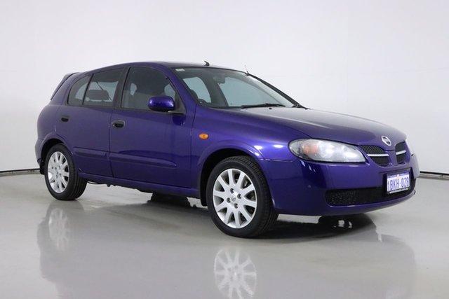 Used Nissan Pulsar N16 MY03 Q Bentley, 2003 Nissan Pulsar N16 MY03 Q Blue 4 Speed Automatic Hatchback