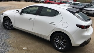 2021 Mazda 3 BP2H7A G20 SKYACTIV-Drive Pure White Pearl 6 Speed Sports Automatic Hatchback.