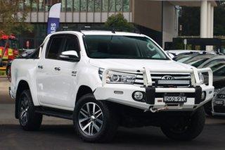 2016 Toyota Hilux GUN126R SR5 (4x4) White 6 Speed Automatic Dual Cab Utility.