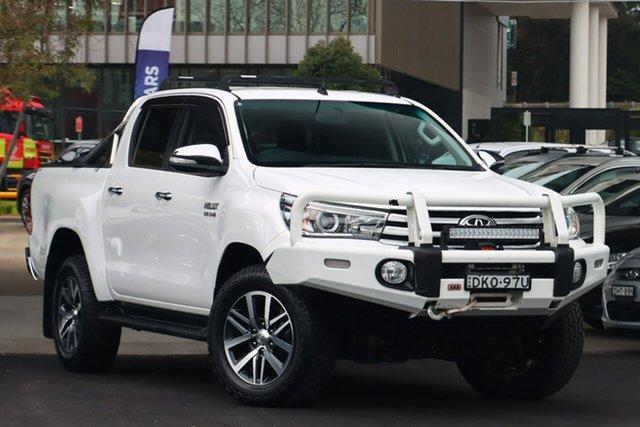 Used Toyota Hilux GUN126R SR5 (4x4) Zetland, 2016 Toyota Hilux GUN126R SR5 (4x4) White 6 Speed Automatic Dual Cab Utility