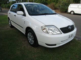 2002 Toyota Corolla ZZE122R Ascent Seca White 4 Speed Automatic Hatchback