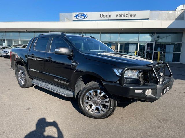 Used Ford Ranger PX MkII 2018.00MY Wildtrak Double Cab Essendon Fields, 2017 Ford Ranger PX MkII 2018.00MY Wildtrak Double Cab Black 6 Speed Sports Automatic Utility