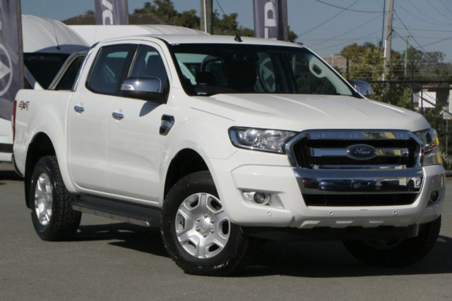Used Ford Ranger PX MkII XLT Super Cab Rocklea, 2016 Ford Ranger PX MkII XLT Super Cab Cool White 6 Speed Sports Automatic Utility