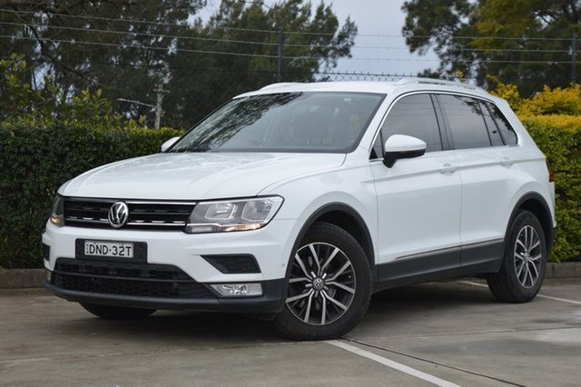 Used Volkswagen Tiguan 5N MY18 110TSI DSG 2WD Comfortline Maitland, 2017 Volkswagen Tiguan 5N MY18 110TSI DSG 2WD Comfortline White 6 Speed Sports Automatic Dual Clutch