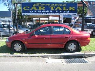 1999 Ford Falcon AU Red 4 Speed Automatic Sedan.