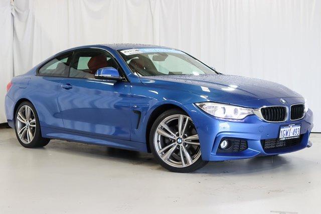 Used BMW 4 Series F32 428i M Sport Wangara, 2016 BMW 4 Series F32 428i M Sport Blue 8 Speed Sports Automatic Coupe