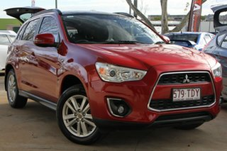2013 Mitsubishi ASX XB MY14 Aspire 2WD Red 6 Speed Constant Variable Wagon.