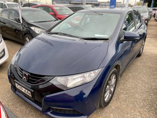 2014 Honda Civic 9th Gen MY14 VTi-S Deep Ocean Blue 5 Speed Sports Automatic Hatchback.