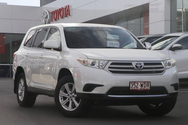 Pre-Owned Toyota Kluger GSU40R MY12 KX-R 2WD Woolloongabba, 2013 Toyota Kluger GSU40R MY12 KX-R 2WD Crystal Pearl 5 Speed Sports Automatic Wagon