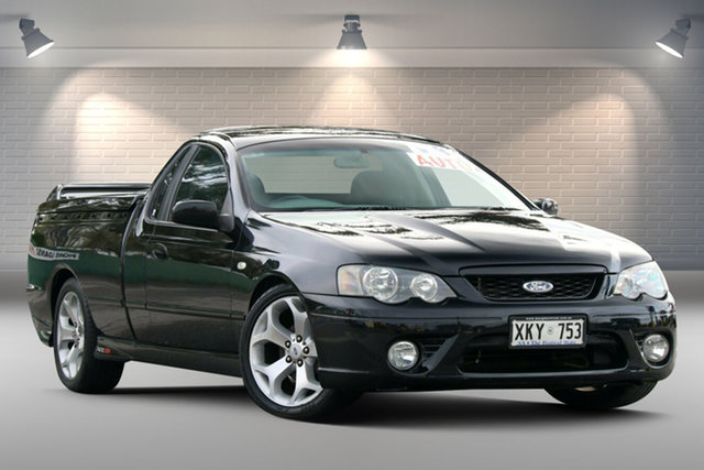 Used Ford Falcon BF Mk II XR8 Ute Super Cab Gepps Cross, 2006 Ford Falcon BF Mk II XR8 Ute Super Cab Black 6 Speed Sports Automatic Utility