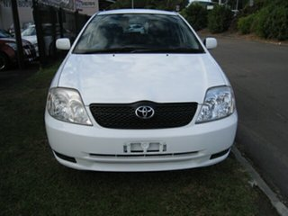 2002 Toyota Corolla ZZE122R Ascent Seca White 4 Speed Automatic Hatchback.
