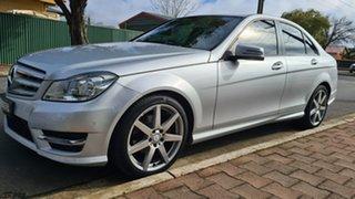 2014 Mercedes-Benz C200 W204 MY14 Avantgarde Cuban Silver 7 Speed Automatic G-Tronic Sedan.