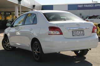 2008 Toyota Yaris NCP93R YRS White Solid 5 Speed Manual Sedan.