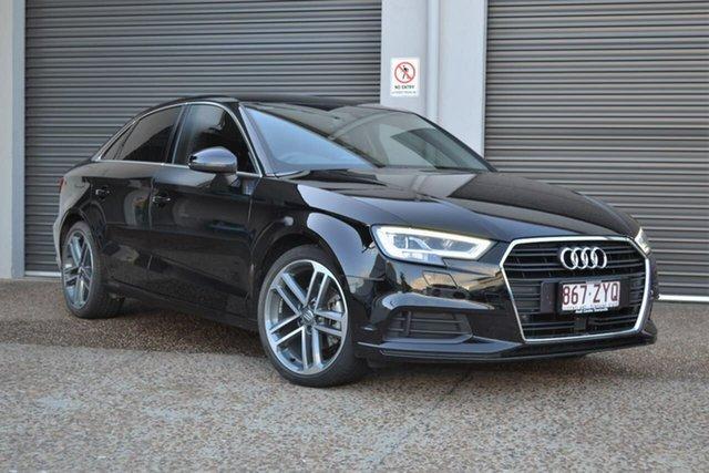 Used Audi A3 8V MY18 S Tronic Mundingburra, 2018 Audi A3 8V MY18 S Tronic Black 7 Speed Sports Automatic Dual Clutch Sedan