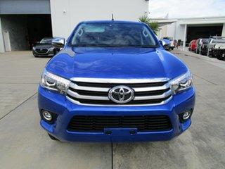 2018 Toyota Hilux GUN126R SR5 Double Cab Blue 6 Speed Sports Automatic Utility.